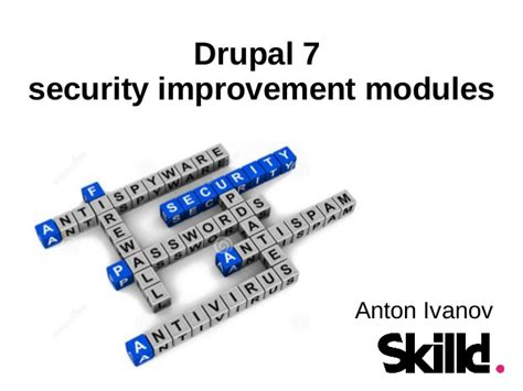 drupal security improvement modules