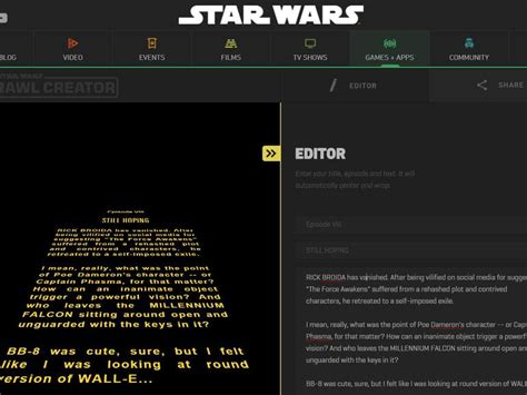 top text editors the cnet create your own wars title crawl cnet