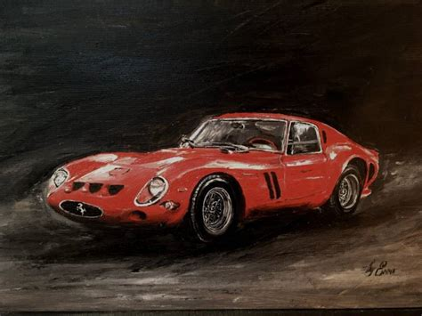 ferrari painting saatchi art old ferrari painting by emma syniuk