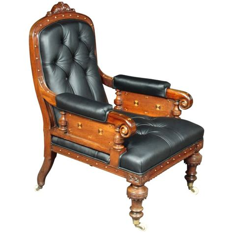 victorian leather armchair victorian leather armchair for sale at 1stdibs
