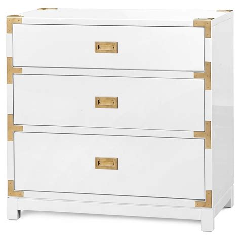 White And Gold Nightstand Rex Regency White Gold Caign 3 Drawer Nightstand Kathy Kuo Home