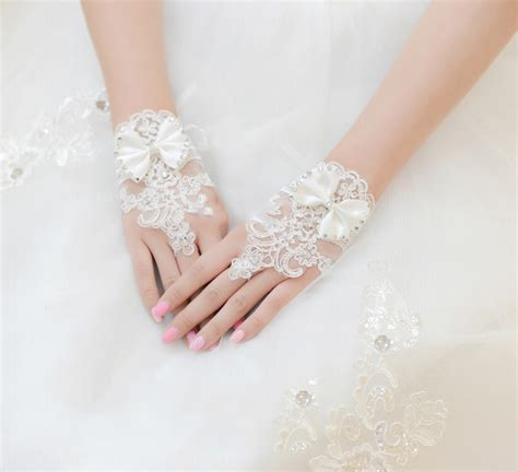 Rhinestone Wedding Gloves wedding gloves section of the wedding lace bow