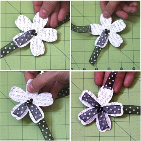 Paper Ribbon Flower - for scrapping out loud woven flower tutorial