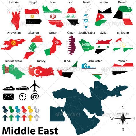 middle east map drawing maps of middle east graphicriver