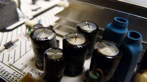 bulging run capacitor samsung lcd tv takes to turn on fix techs11