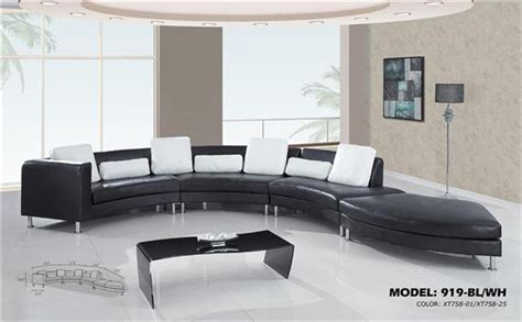 contemporary s curved sectional sofa with contrasting