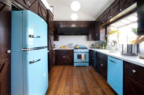 colorful vintage kitchen designs add style to your kitchen with retro appliances