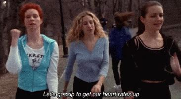 the gossip of the city sex and the city gossip gif find share on giphy