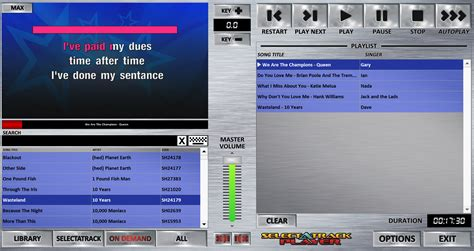 mp3 karaoke maker software free download full version for windows 7 selectatrack player selectatrack on demand