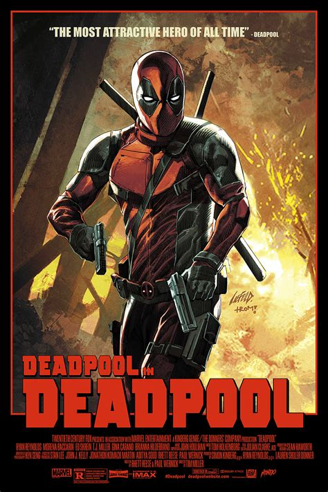 deadpool poster the creator of deadpool made an awesome mondo poster