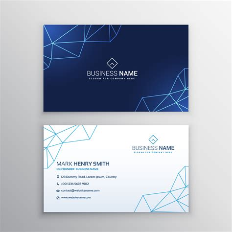 Technology Business Card Design Template Download Free Vector Art Stock Graphics Images Card Vector Template