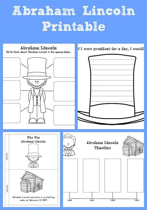 biography of abraham lincoln worksheet 87 best images about homeschool u s presidents unit on