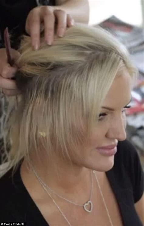 what is the best hair extensions for bald spot on top of my head brynne edelsten loses her hair extensions and reveals her