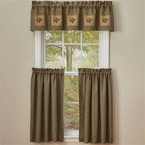 36 X 45 Curtains Pineview Lined Patch Curtain Valance 60 Quot X 14 Quot