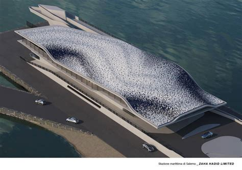 Oyster Shell by Zaha Hadid S Posthumous Work In Salerno