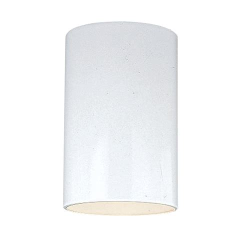 Cylinder Light Fixtures Sea Gull Lighting Outdoor Cylinder Collection 1 Light White Outdoor Ceiling Fixture 7813801 15