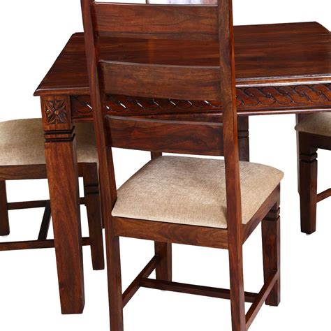 Handcrafted Dining Tables - handcrafted solid wood 5pc square dining table and chair set