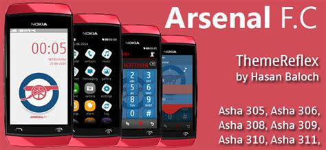 themes download for nokia asha 311 arsenal f c theme for nokia asha 305 asha 306 asha 308