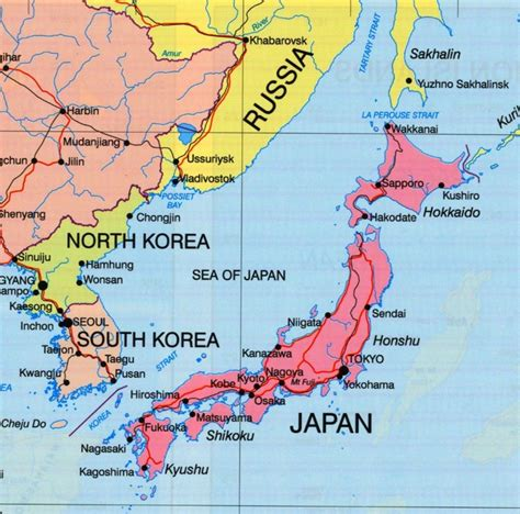 political map of japan sea of japan political map