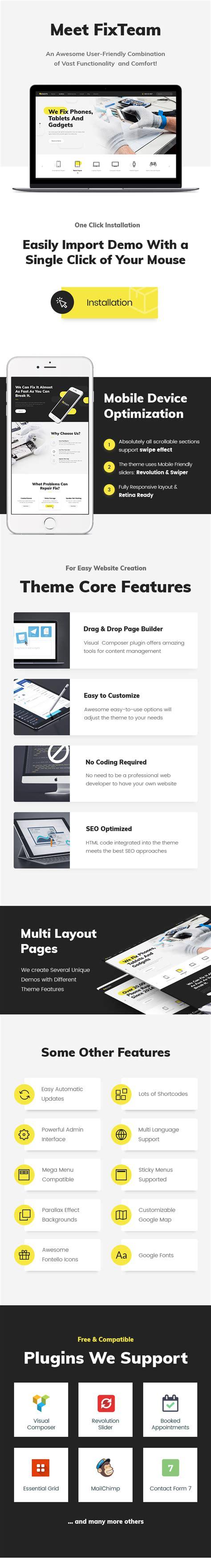free wordpress themes retail store fixteam electronics repair wordpress theme retail