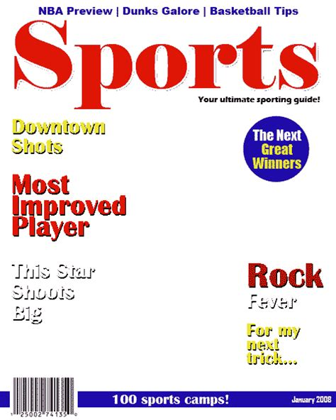 sports magazine template blank sports magazines pictures to pin on