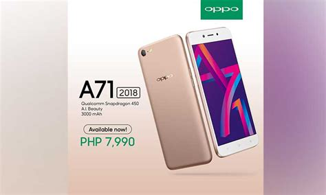 Oppo A71 16gb 2gb Resmi Original 100 oppo a71 2018 is now available srp is p7990
