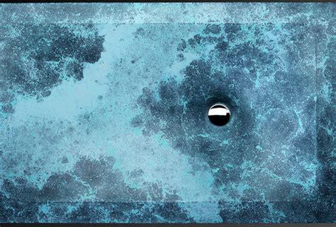 thors  caribbean blue concrete sink  pietra
