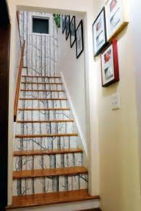 Swarovski Home Decor 20 Diy Wallpapered Stair Risers Ideas To Give Stairs Some