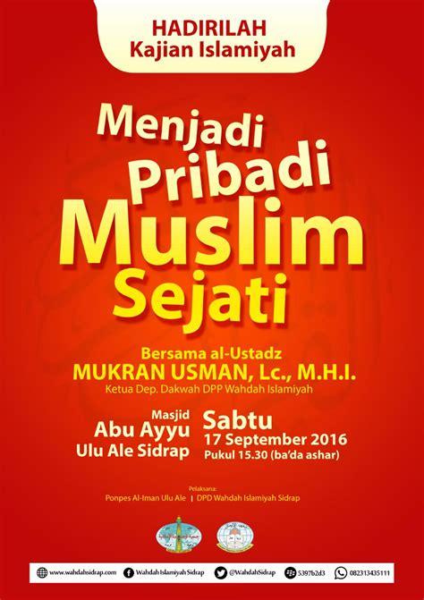 Serambi Sakinahcermin Pribadi Muslim kajian islamiyah quot menjadi pribadi muslim sejati quot