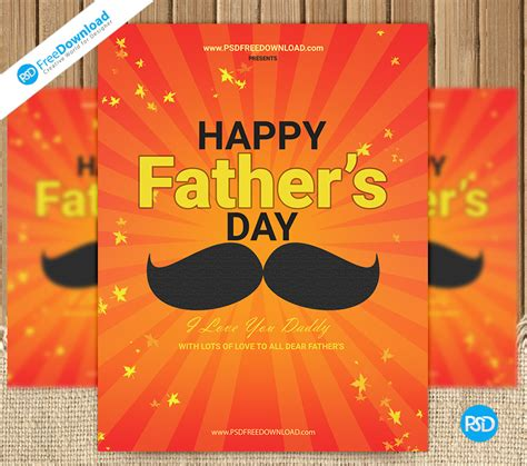 free s day card photoshop templates fathers day flyer template psd psd free