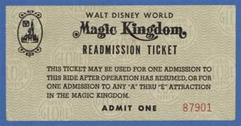World Ticket Vintage Disneyland Tickets Walt Disney World