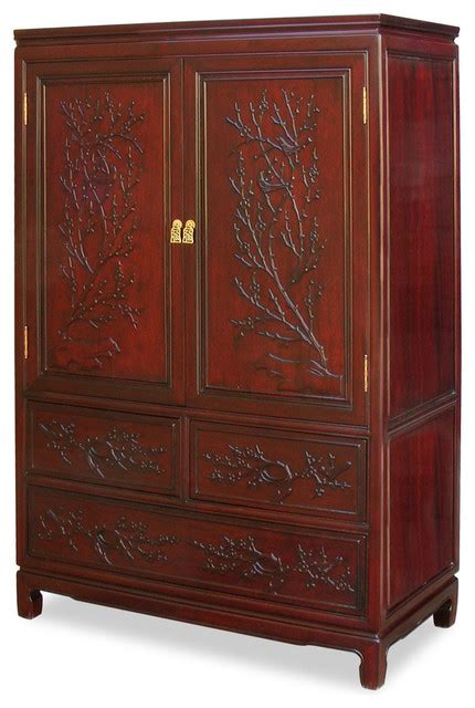 rosewood armoire rosewood flower birds design armoire asian armoires and wardrobes by china