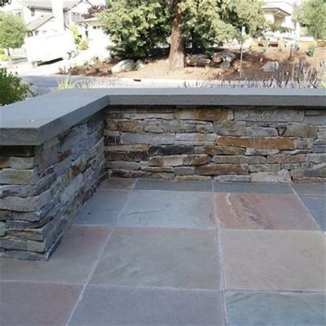 outdoor slate patio slate patio ledge bench outdoor spaces