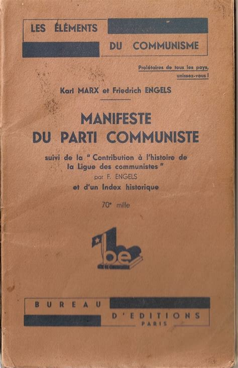 si鑒e du parti communiste re lectures de marxengels 2 marx 224 l envers marx 224 l