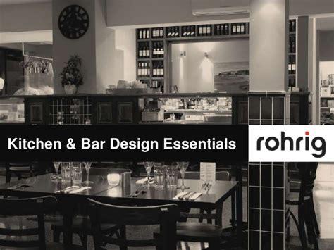 kitchen bar design essentials