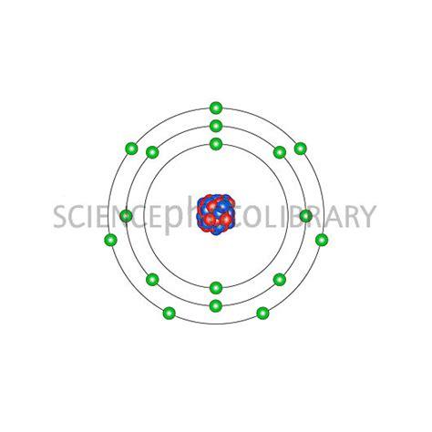 diagram of chlorine atom chlorine atomic structure stock image c013 1530