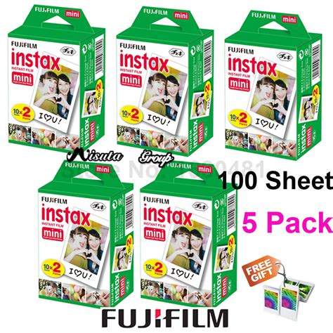 Fujifilm Instax Mini 9 Free 1 Pack Garansi Resmi original 100 sheet fuji fujifilm instax mini 8 white instant photo paper for instant