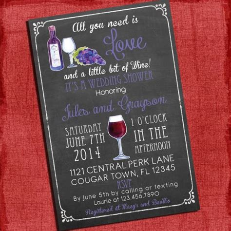 italian themed bridal shower invitations printable wine theme couples coed wedding shower