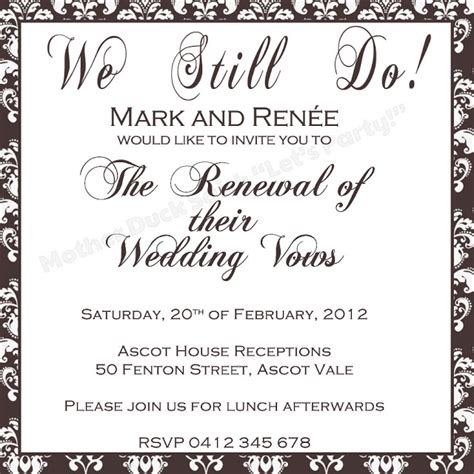 Wording Of Wedding Renewal Invitations by Invitation Renewing Wedding Vows Quotes Quotesgram