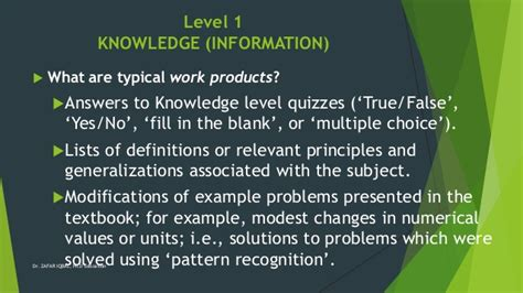 pattern recognition multiple choice questions application of bloom taxanomy in teaching