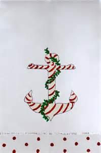 nautical christmas guest towel