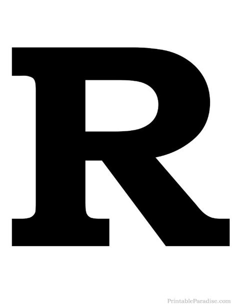 Printable Solid Black Letter R Silhouette | Harfler ... R