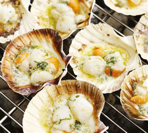simple pleasures recipes and memories of real food books roasted scallops in the half shell with lemon caper butter