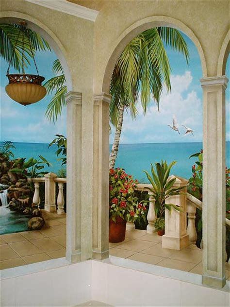 Paint By Number Wall Mural tropical murals a tropical paradise painted by art effects