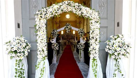 churh flower decoration in Sri Lanka