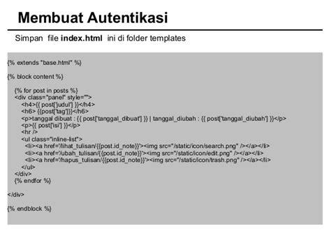 membuat file index html membuat catatan online dengan cherrypy