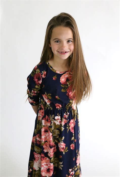 girl s how to make a girl s midi dress without a pattern it s