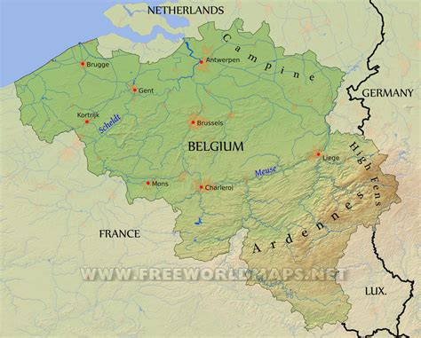 map of belgium and belgium ardennes map arabcooking me