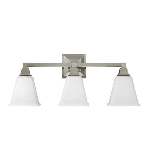 white bathroom light sea gull lighting denhelm 3 light brushed nickel wall bath