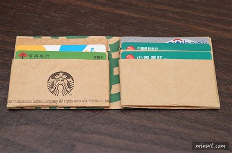 How To Make Paper Wallets - transform a starbucks paper bag into a fully functional